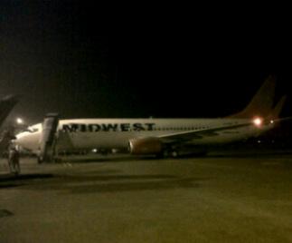 737-800 Sriwijaya akhirnya tiba untuk launching 2-class service
