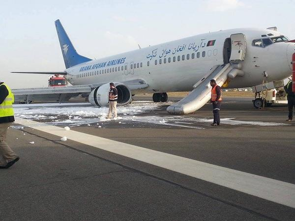 Ariana Afghan 737-400 right main landing gear failure in Kabul