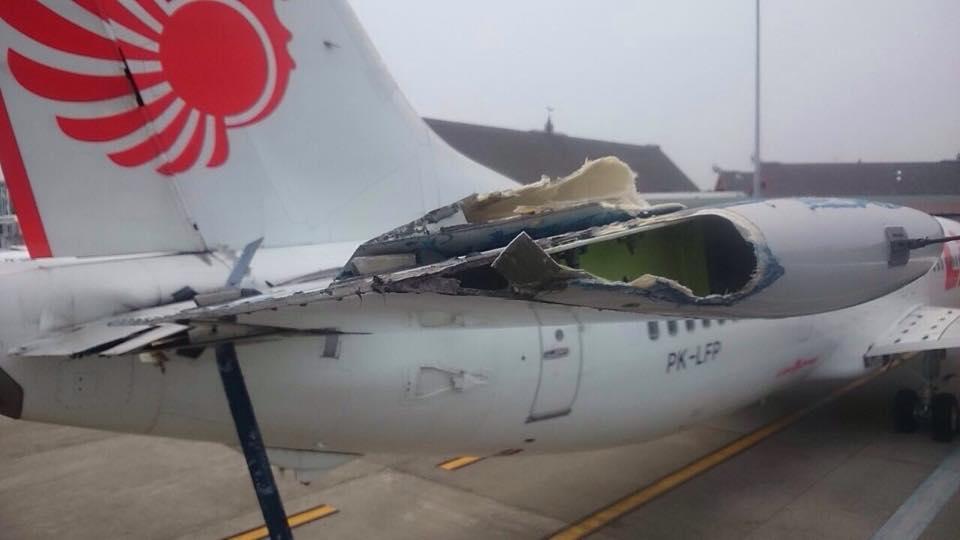 737-900ER Lion Air tertabrak tangga di Balikpapan
