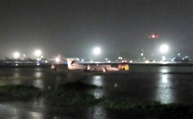 Medevac Learjet skids off runway at Halim Airport