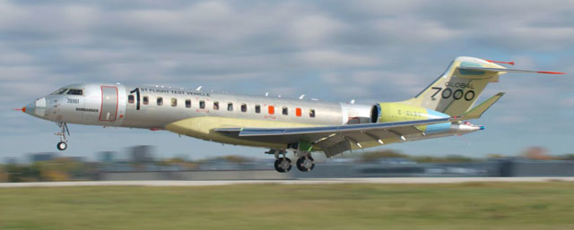 Bombardier Global 7000 Lepas Landas!
