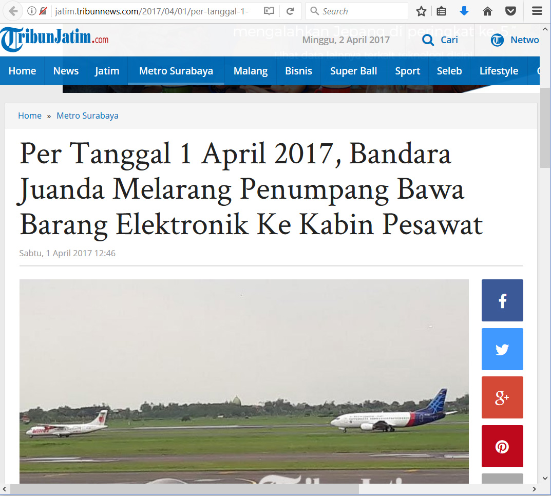 TribunJatim-Juanda01April-1