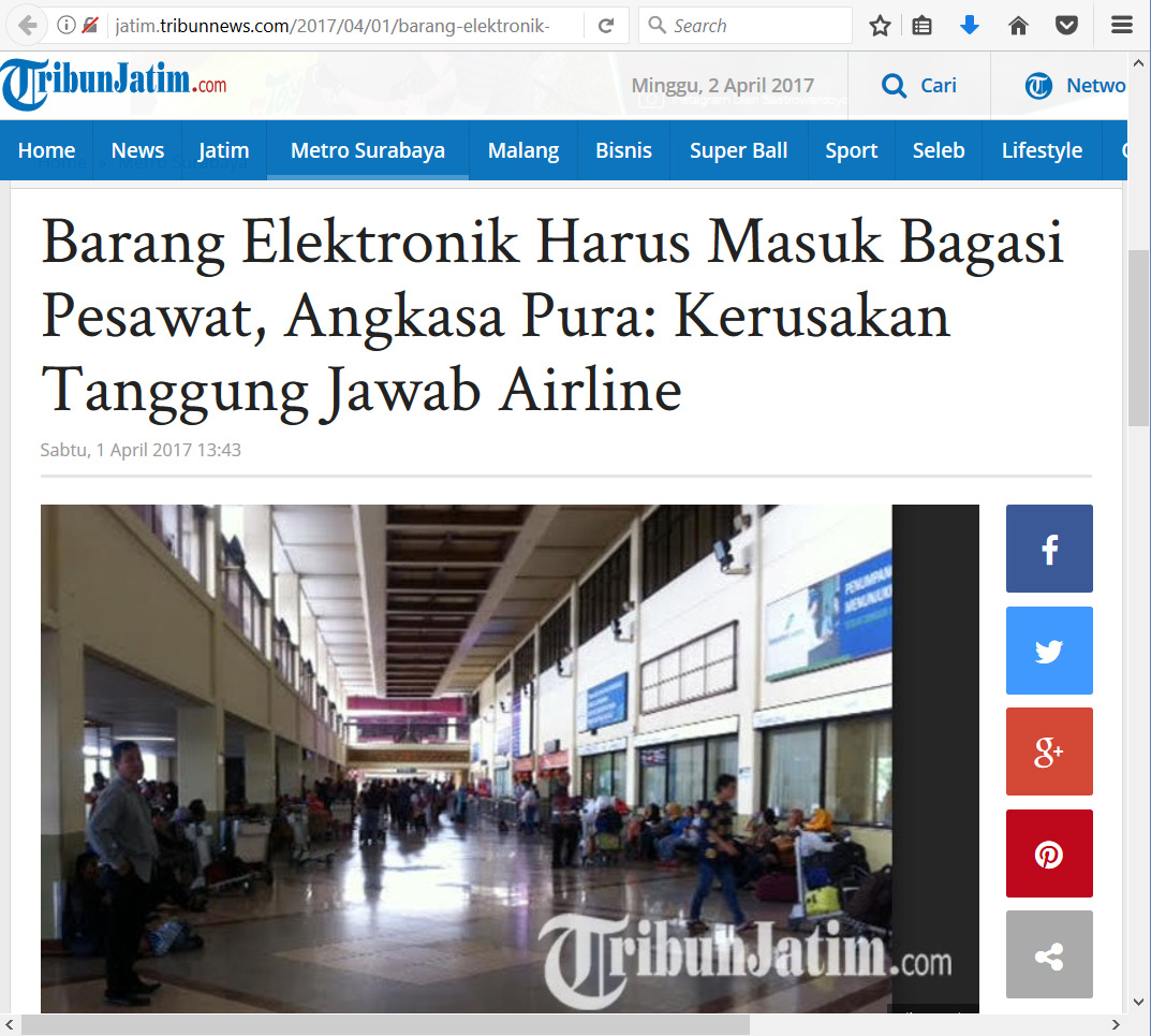 TribunJatim-Juanda01April-2